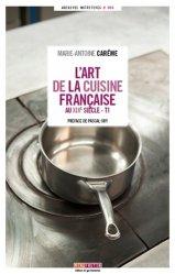 L'art de la cuisine française au XIXe siècle. 5 volumes