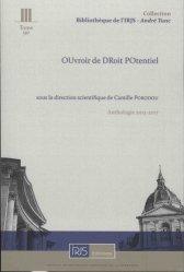 L'Oudropo, Ouvroir de droit potentiel. Anthologie 2013-2017