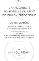 L'applicabilité temporelle du droit de l'Union européenne