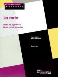 La couverture et les autres extraits de L'essentiel de la note de synthèse. 8e édition