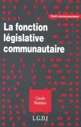 La fonction législative communautaire