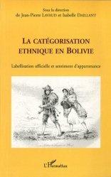 La catégorisation ethnique en Bolivie