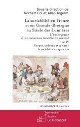 La sociabilité en France et en Grande-Bretagne au Siècle des Lumières.