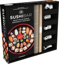 La box kawaï sushibar. Avec 5 paires de baguettes, 5 porte-baguettes, 1 natte en bambou