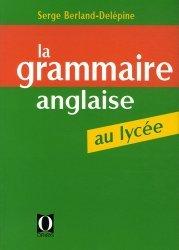 La grammaire anglaise au lycée