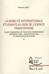 La mobilité internationale au sein de l'espace francophone