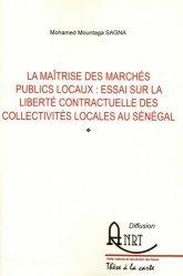 La maîtrise des marchés publics locaux