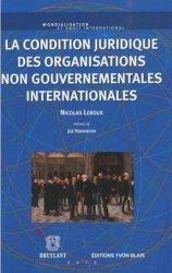 La condition juridique des ONG internationales
