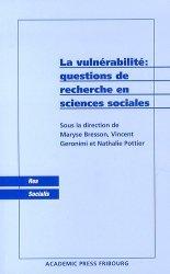 La vulnérabilté : questions de recherche en sciences sociales