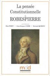 La pensée constitutionnelle de Robespierre