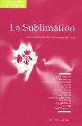 La sublimation. Journées occitanes de psychanalyse
