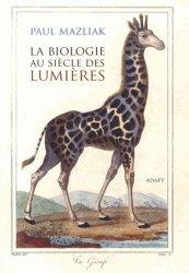 La biologie au siècle des Lumières