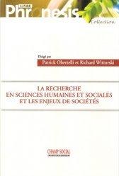 La recherche en sciences humaines et sociales et les enjeux de sociétés