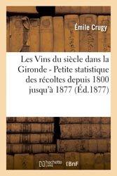 Les Vins du siècle dans la Gironde - Petite statistique des récoltes depuis 1800 jusqu'à 1877
