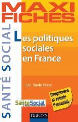 Les politiques sociales en France - 1998-2012
