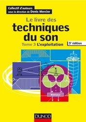 La couverture et les autres extraits de Le livre des techniques du son