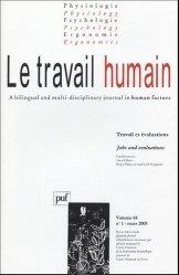 Le travail humain Volume 68 N° 1, Mars 2005 : Travail et évaluations