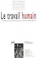 Le travail humain Volume 72 N° 3, Juillet 2009