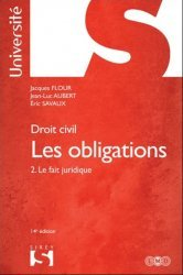 La couverture et les autres extraits de Les obligations. Tome1, L'acte juridique : Le contrat - Formation - Effets ; Actes unilatéraux ; Actes collectifs, 16e édition