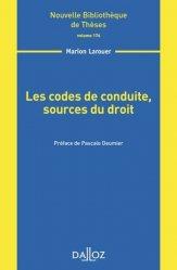 Les codes de conduite, sources du droit
