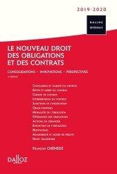 Le nouveau droit des obligations et des contrats. Consolidations, innovations, perspectives, Edition 2019-2020