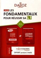 Les fondamentaux pour réussir sa L1. 2 volumes, Code civil annoté ; Lexique des termes juridiques, Edition 2020