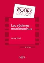 Les régimes matrimoniaux - 10e ed.