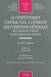 Le consentement contractuel à l'épreuve des conditions générales. De l'utilité du concept de déclaration de volonté