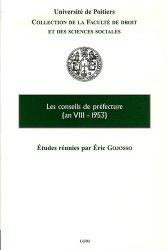 Les conseils de préfecture (an VIII-1953)