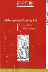 Les Cahiers poitevins d'Histoire du droit N° 3