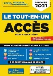 Le tout-en-un Concours ACCES - 18 sujets blancs - Écrits et oraux