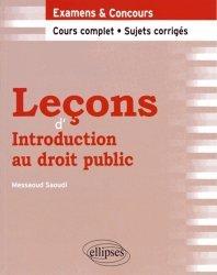 Leçons d'Introduction au droit public