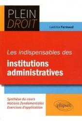 Les indispensables des institutions administratives