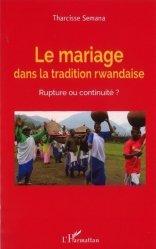 Le mariage dans la tradition rwandaise