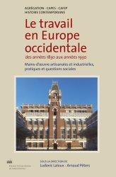 Le travail en Europe occidentale des années 1830 aux années 1930