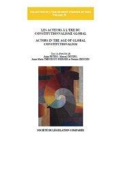 Les acteurs à l'ère du constitutionnalisme global. Edition bilingue français-anglais