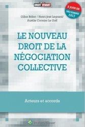 Le nouveau droit de la négociation collective. Acteurs et accords