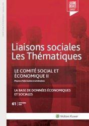 Le comité social et économique II - N°61 Septembre 2018