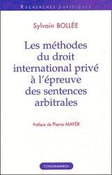 Les méthodes du droit international privé à l'épreuve des sentences arbitrales