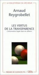 Les vertus de la transparence. L'information légale dans les affaires