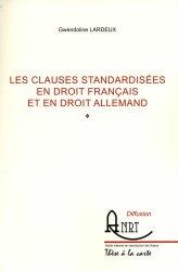 Les clauses standardisées en droit français et en droit allemand