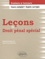 Leçons de droit pénal spécial