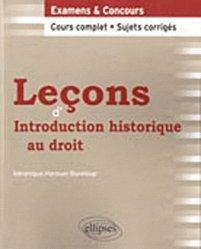 Leçons d'Introduction historique au droit