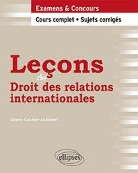 Leçons de droit des relations internationales