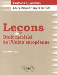 Leçons de droit matériel de l'Union européenne