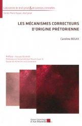 Les mécanismes correcteurs d'origine prétorienne
