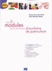 Les 8 modules de la formation d'auxiliaire de puériculture