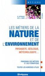 Les métiers de la nature et de l'environnement