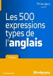 Les 500 expressions type de l'anglais