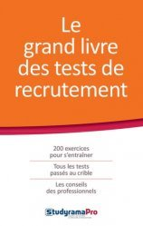 La couverture et les autres extraits de Le grand livre des tests de recrutement. Edition 2020-2021